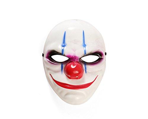sene weiße Kostüm Halloween-Maske (3 Stück) (HM21) ()