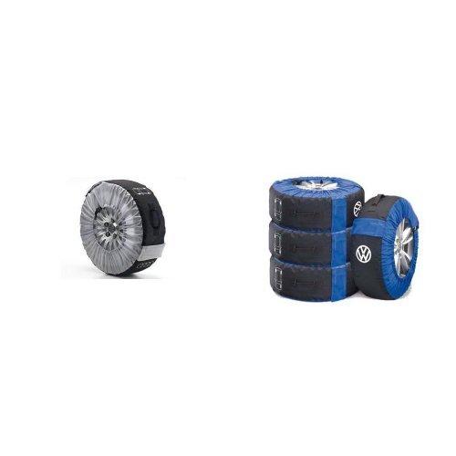 Preisvergleich Produktbild Audi 4F0 071 156 Rad-Tasche und Volkswagen 000073900 Reifentaschen-Set