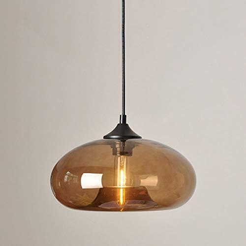 Lámpara colgante con pantalla de vidrio Vintage E27 Lámpara ...
