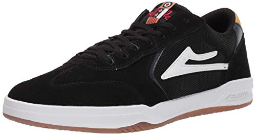 Lakai Limited Footwear Herren Atlantic Skate-Schuh, Schwarz (Black/Yellow Suede), 42 EU -