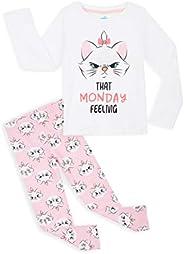 Disney Pijama Niña, Pijama Niña Invierno de Los Aristogatos, Conjunto 2 Piezas Camiseta Manga Larga y Pantalon