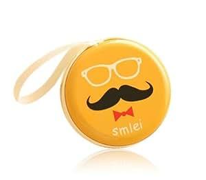 Moca(Tm) Tin Cool Mustache Pouch For Earphone Pouch Case Coins Pouch,Memory Card Pendrive Pouch Bag Case Pouch Wallet