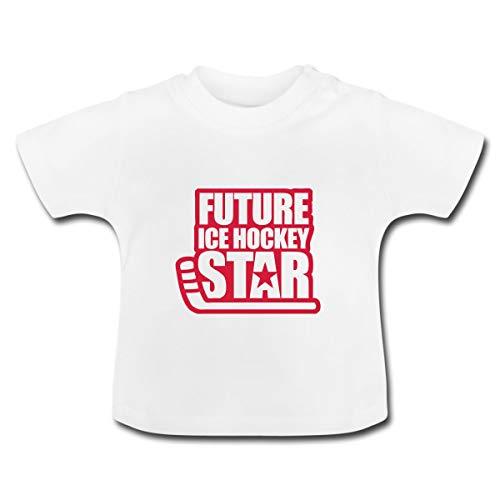 Eishockey Future Ice Hockey Star Baby T-Shirt, 12-18 Monate, Weiß