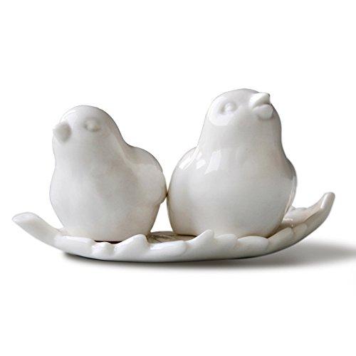KIKIXI Magpie Ornamente Seasoning Dosen Gewürze Box Valentinstag Hochzeit Küche liefert einen Satz von Zwei -