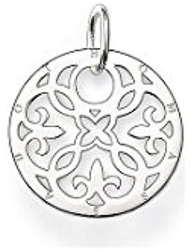 Thomas Sabo Anhänger, klein, rundes Ornament, Silber PE430