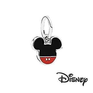 Unbekannt Charm-Anhänger Disney Micky Maus für Pandora-Armband, Sterling-Silber 925