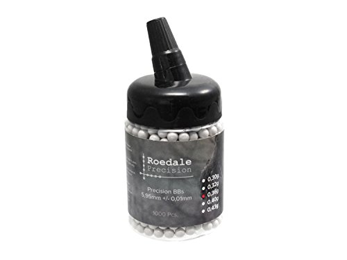 1.000 ROEDALE Precision Softair/Airsoft BBS 6mm 0,36g in Flasche - hell -