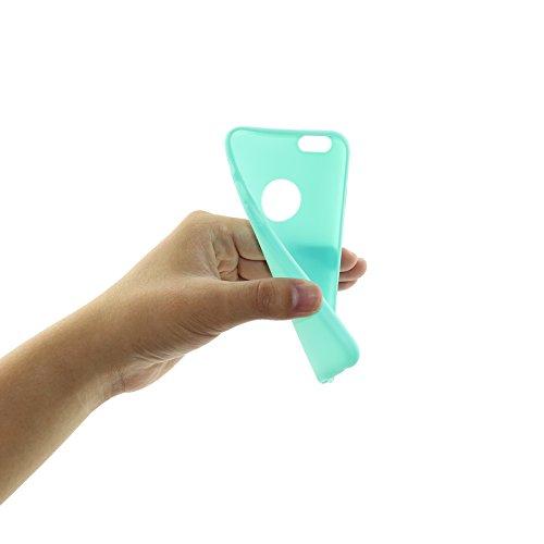 iPhone 6Plus Coque, allbuymall Ultra Fin avec Protection [Candy pur] doux Pure Color Premium semi-transparent non encombrement Coque en TPU pour Apple iPhone 6Plus/6S Plus (14cm) vert menthe