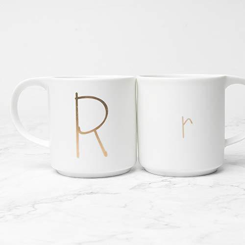 Becher Kaffeetassen Tassen Einfache Becher Frühstücksschale Kreative Blech Keramik Brief Tasse...