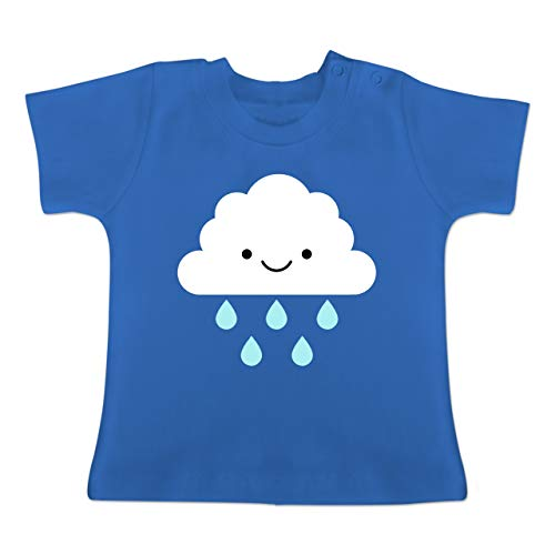 Karneval und Fasching Baby - Regenwolke Karneval Kostüm - 12-18 Monate - Royalblau - BZ02 - Baby T-Shirt Kurzarm