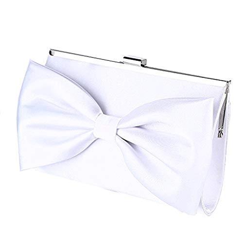 XiaoZou Abendessen Clutch Bag Promotion Box Clutch Wallet Braut Geldbörse for Frauen Hochzeit Und Party Seide Bogen Dekoration Elegante Abendkleid Tote -