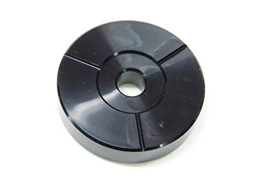 centreur 45t pour platine vinyle plastique (noir)