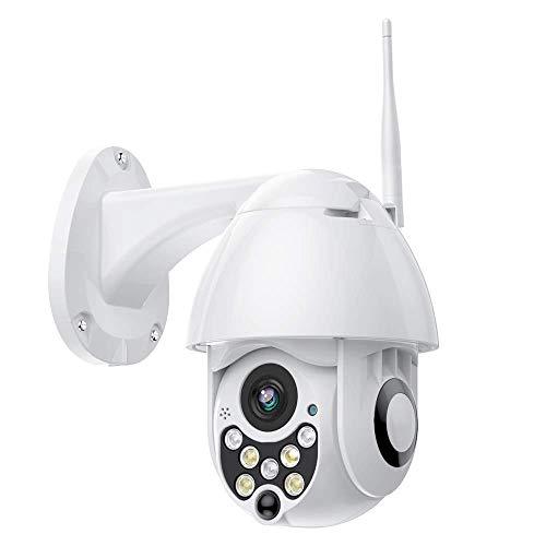 YAYY PTZ IP Überwachungskamera 720P Wireless Dome Kamera   Dome Sicherheit WiFi Kamera Außen Pan Tilt Zoom Wetterfeste CCTV Kamera P2P, Zwei-Wege Audio, Bewegungserkennung,Fernalarm (Pan-zoom-sicherheit Kamera)