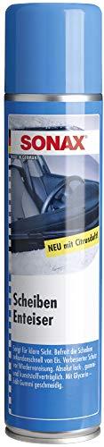 SONAX ScheibenEnteiser (400 ml) sekundenschnelles enteisen von Scheiben ohne kratzen und eine rundum klare Sicht im Winter   Art-Nr. 03313000