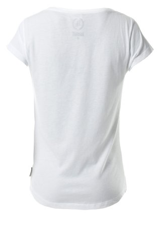 Boom Bap Damen Print T-Shirts REBITCH Tee Crew Neck Women White