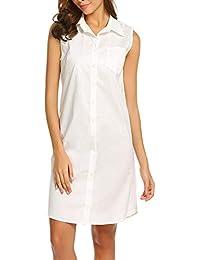 46eb429fd1 Camicia da Notte Estiva Donna da Festivo Essenziale Scollo A V Abito da  Notte in Cotone Corto