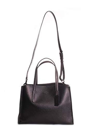 COACH Women's Metallic Leather Charlie Carryall Gunmetal/Metallic Graphite One Size