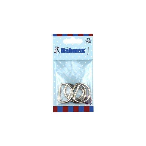 Halbrundringe 25 mm D-Ringe Metallringe 314212