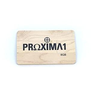 proxima1USB 2.0Ultra Slim Geldbörse Kreditkarte USB-Stick USB Flash Drive Perfekte Passform–Brieftasche–USB mit TS007Design USB Memory Stick 8 GB