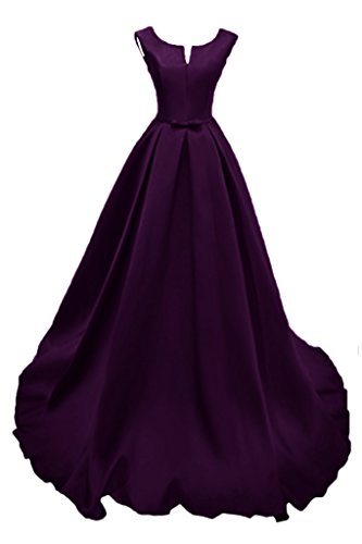 Prom Style Hochwertig Satin Ballkleider Quinceanerakleider Abendkleider Schleppe Promkleider Festkleider Partykleider lang Traube