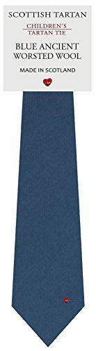 I Luv Ltd Garçon Tout Cravate en Laine Tissé et Fabriqué en Ecosse à Plain Ancient Blue