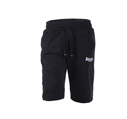 BOXEUR DES RUES BXT-1338 Pantalones Cortos basicos, Hombre, Negro, L