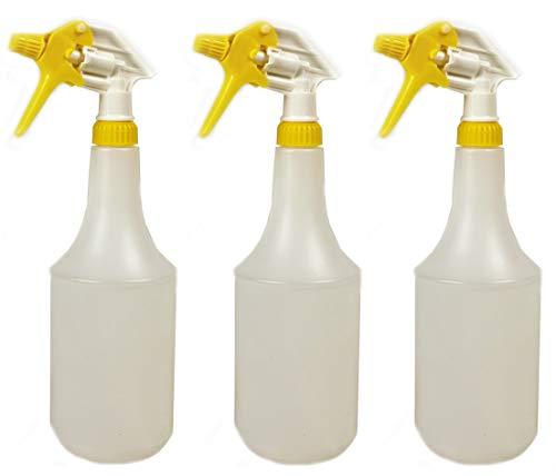 3 Stück CAE Industry 360° Überkopf Sprühflaschen leer 1l Chemie Beständig (nicht für Säure, Silikonhaltige oder Lösemittel) mit Sprühkopf trigger sprayer mit 360 grad überkopf funktion