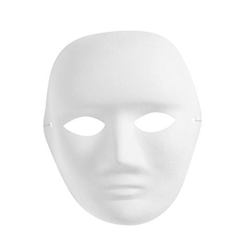BESTOYARD Cosplay Partei Maske Männer Portrait Maske Malerei Maske Vollgesichts Kostüm Zellstoff Leere Weiße Maske für DIY Farbe
