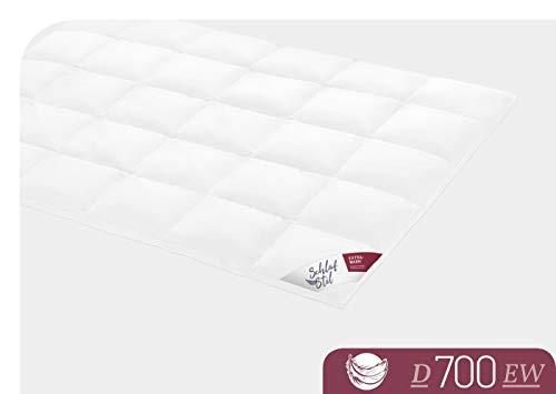 SCHLAFSTIL Bettdecke Daunendecke D 700 Extrawarm 155x 220 cm -