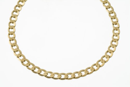Necklace, 9ct Yellow Gold Curb Chain, 51cm Length, Model AFC 160