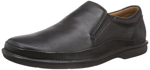 Clarks Butleigh Free 26113939 Herren Slip On, schwarz (Black Leather), 45 EU