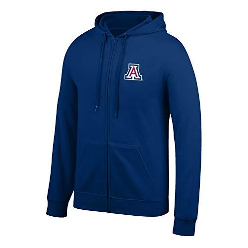 eLITe Top of The World Herren Kapuzenpullover NCAA, Herren, Men's Lightweight Full Zip Hoodie, Navy, Large Full Zip Screen-print Sweatshirt