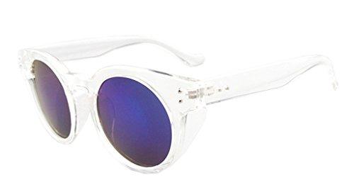 Eyekepper lunettes de soleil rondes UV 400 Protection Homme Femme Clair-bleu