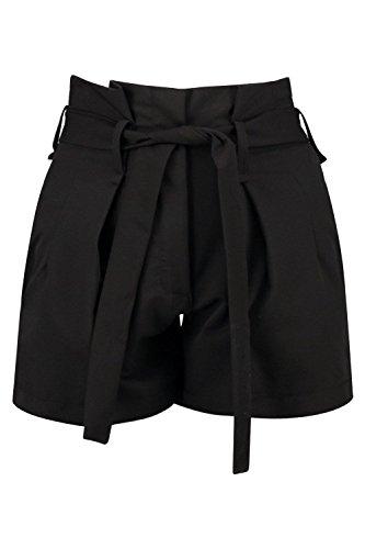 Noir Hommes Alex Tie tailleed Intelligent Belted Court Noir