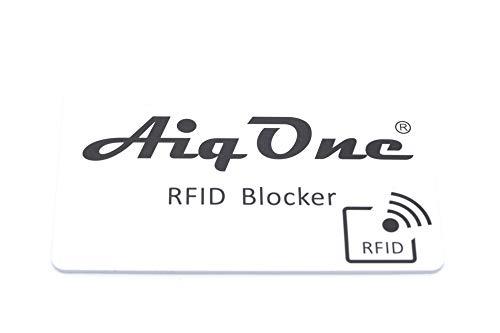 AiqOne RFID Blocker Karte NFC Schutzkarte - Störsender Anti Skimming - Keine Schutzhüllen mehr nötig. Für EC-Karte, Kreditkarten, Personalausweis, Reisepass Smartphone und alle RFID fähigen Karten Mobile Kreditkarte