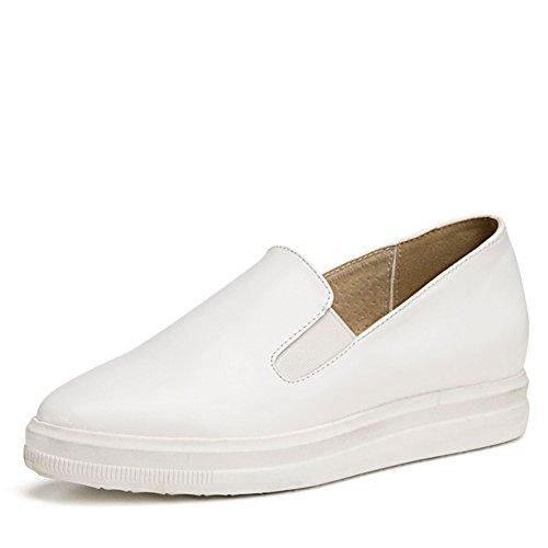 A augmenté en pointe chaussures blanc épais à la fin de/ Lady leisure chaussures plat B
