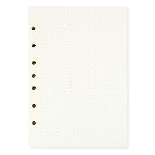 A5 Dotted Filler Paper 7 Hole Punch 55 X 85 Fits 3