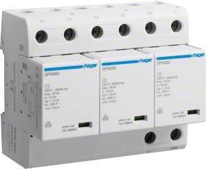 Hager Überspannungsableiter SPN800 3P steck. 75kA Kombi-Ableiter für Energietechnik 3250615660909