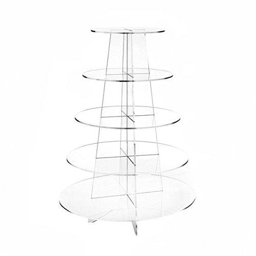 Material acrílico transparente y resistente, cinco niveles, diseño simple con gran capacidad.Fácil de montar y desmontar, diseño nido, fácil de plegar.Ambos lados adhesivos disponen de un papel como se muestra en la imagen, por lo que es posible prot...