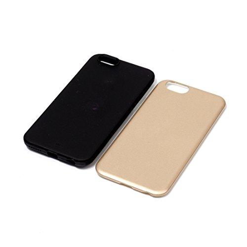 Phone case & Hülle Für iPhone 6 / 6s, TPU + PU Kombination schützende rückseitige Abdeckungs-Fall ( Color : Purple ) Gold