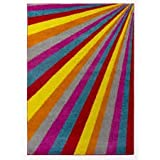 Lord of Rugs Modern Large Small Bright Colourful Rainbow Quality Heavy Rug in 6 Design 3 Size (80 x 150 cm (2'6''x5'0''), Spark Multi)