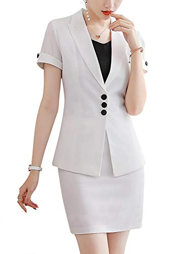 Women's Two Pieces Slim Fit Suits Set for Business