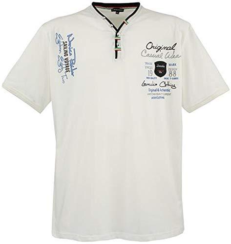 Lavecchia Übergrössen ! Hippes T-Shirt Kurzarm 2042 Creme-Weiss 5XL -