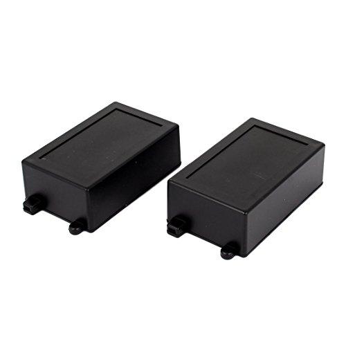 sourcingmap® 2PCS impermeabile sigillato elettrico protettore giunzione scatola nero 100mm