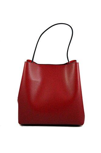 Borsa in pelle a spalla da Donna con bustina fissa- Amica Moda BPL1098 Rosso