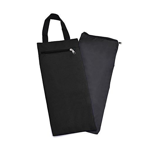 GOGO 40,6cm ungefüllt Sand Tasche mit Innenfutter, Großhandel Verstellbar Sandsack für Yoga Pilates Fitness, Unisex, Schwarz