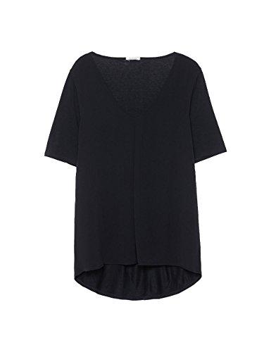 Intimissimi Damen Kurzarm-Shirt mit Falte Schwarz - 019