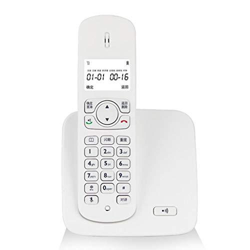 CQOZ Festnetztelefon Digitales schnurloses Haupttelefon 107MM × 174MM drahtlose Büromaschine (Color : White, Size : A)