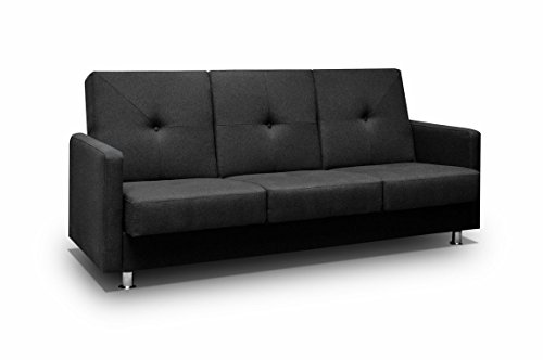 mb-moebel Kleines Sofa mit Schlaffunktion und Bettkasten Wohnzimmer Couch Wohnlandschaft 3-Stizer Sofabett Bettfunktion Venus