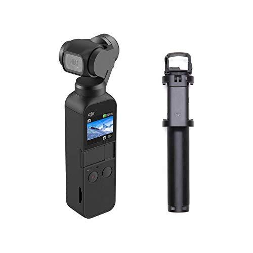 DJI Osmo Pocket Version 2-3-Achsen Gimbal Stabilisator Stabilizer mit integrierter Kamera + Osmo Pocket ausziehbare Verlängerungsstange